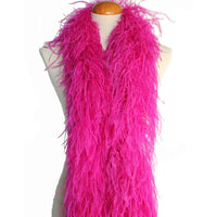 "4 ply 72"" Fuschia Ostrich Feather Boa"