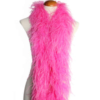 "4 ply 72"" Hot Pink Ostrich Feather Boa"