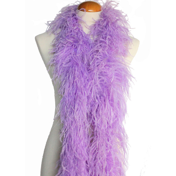 "4 ply 72"" Lavender Ostrich Feather Boa"