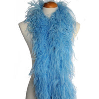 "4 ply 72"" Periwinkle Ostrich Feather Boa"