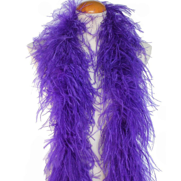 "4 ply 72"" Purple Ostrich Feather Boa"