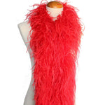 "4 ply 72"" Red Ostrich Feather Boa"