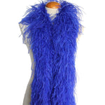 "4 ply 72"" Royal Blue Ostrich Feather Boa"