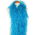 "4 ply 72"" turquoise Ostrich Feather Boa"