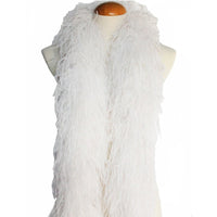 "4 ply 72"" White Ostrich Feather Boa"