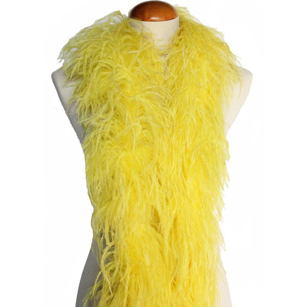 "4 ply 72"" Yellow Ostrich Feather Boa"