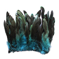 "16 Grams (0.6 ozs) 6-8"" Half Bronze Teal Schlappen Coque Rooster Tail Feathers, ~100 pcs"