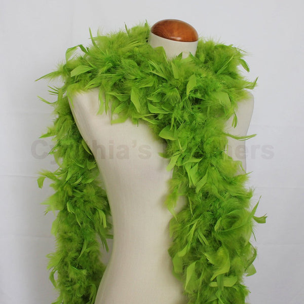 65 Grams Lime Green Chandelle Feather Boa