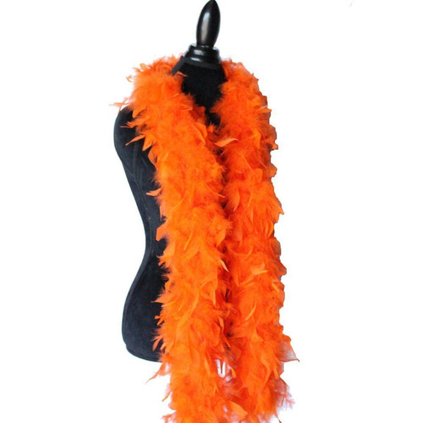 65 Grams Orange Chandelle Feather Boa
