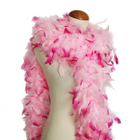 65 Grams Baby Pink With Hot Pink Tips Chandelle Feather Boa