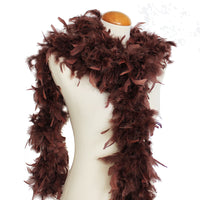 65 Grams Chocolate Brown Chandelle Feather Boa