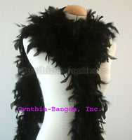 65 Grams Black Chandelle Feather Boa
