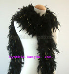 65 Grams Black w/Gold Tinsel Chandelle Feather Boa