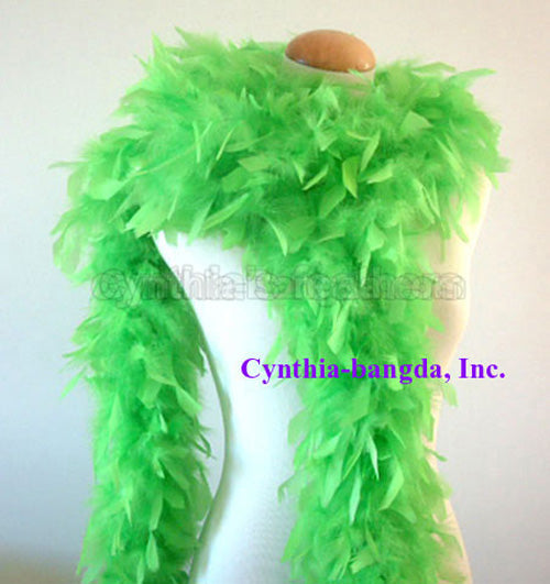 65 Grams Bright Green Chandelle Feather Boa