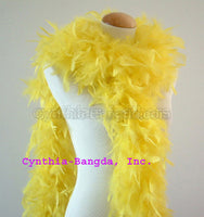 65 Grams Yellow Chandelle Feather Boa