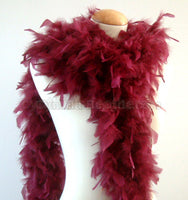 65 Grams Burgundy Chandelle Feather Boa