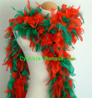 65 Grams Red/Green Mix Chandelle Feather Boa