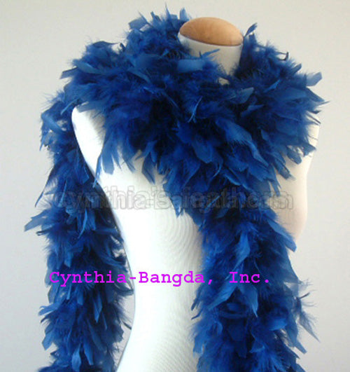 65 Grams Dark Country Blue Chandelle Feather Boa