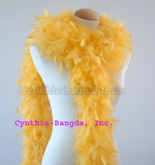 65 Grams Gold Yellow Chandelle Feather Boa