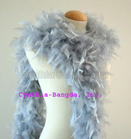 65 Grams	Silver Grey Chandelle Feather Boa