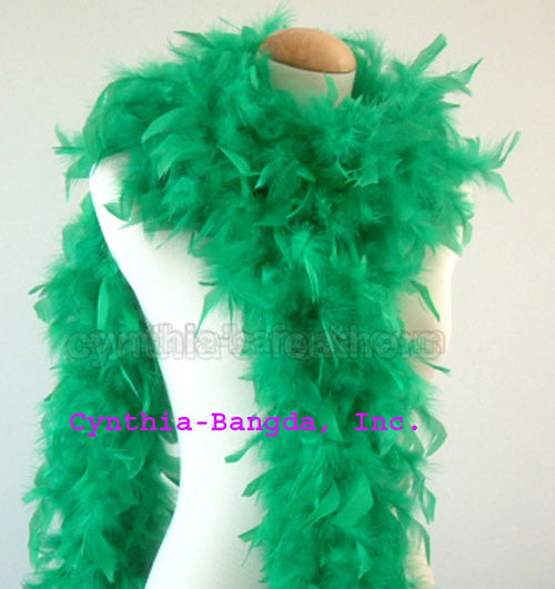 65 Grams Emerald Green Chandelle Feather Boa
