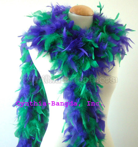 65 Grams Green/Purple Mix Chandelle Feather Boa