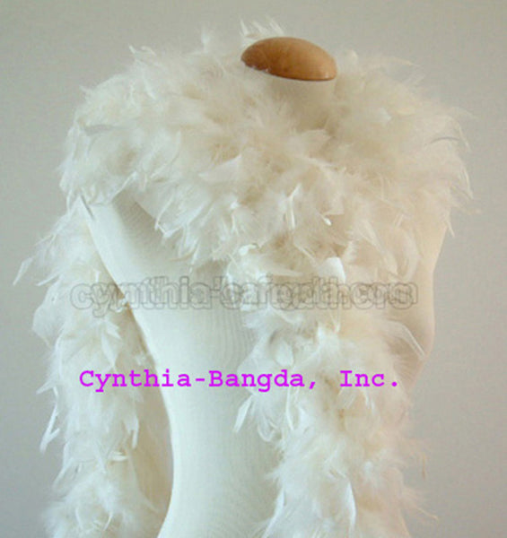 65 Grams	Ivory Chandelle Feather Boa