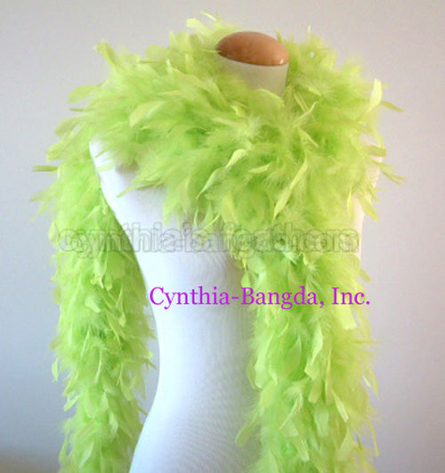 65 Grams Light Lime Green Chandelle Feather Boa
