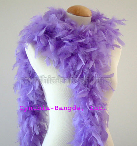 65 Grams Lavender Chandelle Feather Boa