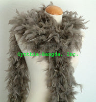65 Grams Mouse Grey Chandelle Feather Boa