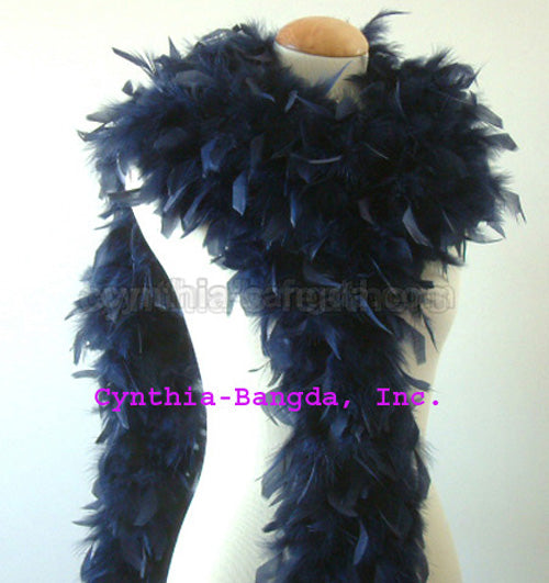 65 Grams	Navy Blue Chandelle Feather Boa