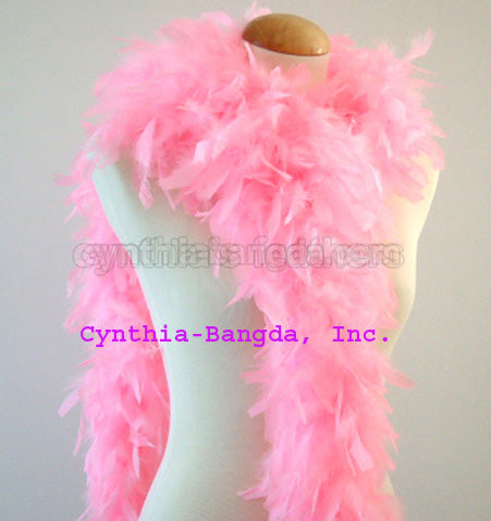 65 Grams Candy Pink Chandelle Feather Boa