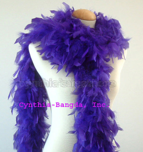 65 Grams Regal Purple Chandelle Feather Boa