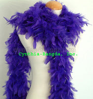 65 Grams Purple With Silver Tinsel Chandelle Feather Boa