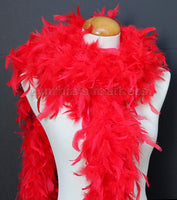 65 Grams Red Chandelle Feather Boa