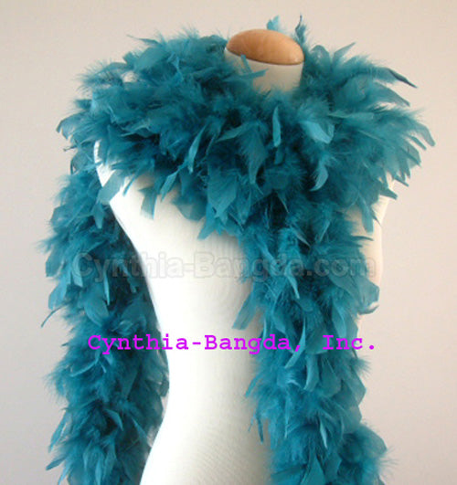 65 Grams	Teal Chandelle Feather Boa