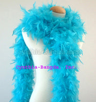 65 Grams Turquoise Chandelle Feather Boa