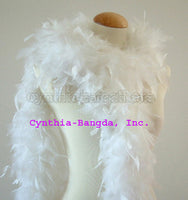 65 Grams White Chandelle Feather Boa