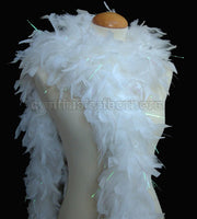 65 Grams White With Lurex Tinsel Chandelle Feather Boa