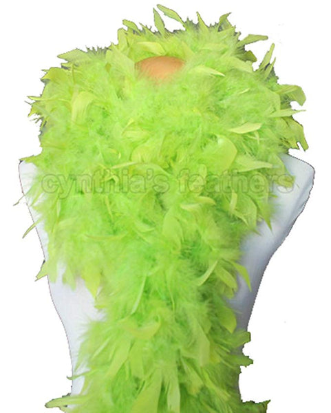 80 Grams Lime Green Chandelle Feather Boa