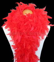 80 Grams Red Chandelle Feather Boa