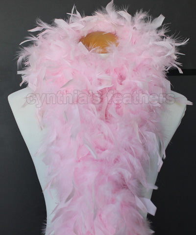 80 Grams Baby Pink Chandelle Feather Boa