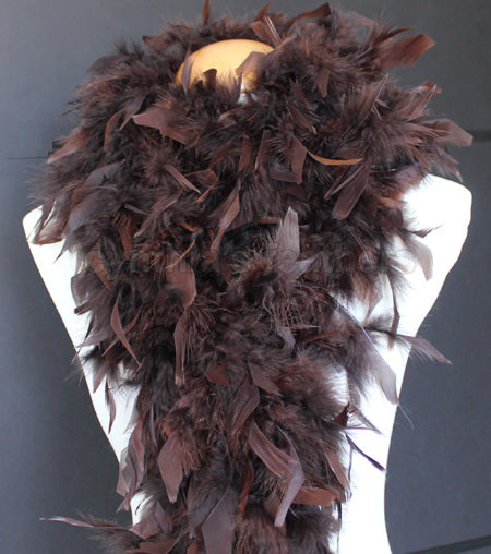 80 Grams Chocolate Brown Chandelle Feather Boa