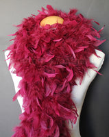 80 Grams Burgundy Chandelle Feather Boa