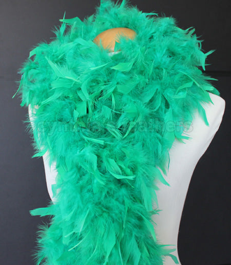 80 Grams Emerald Green Chandelle Feather Boa