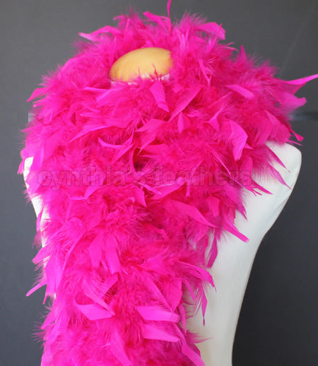 80 Grams Fuchsia Chandelle Feather Boa