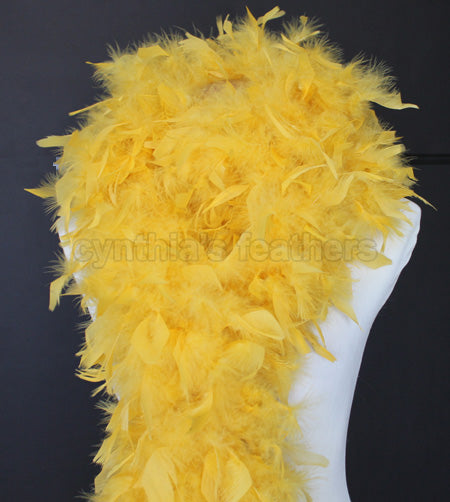 80 Grams Golden Yellow Chandelle Feather Boa