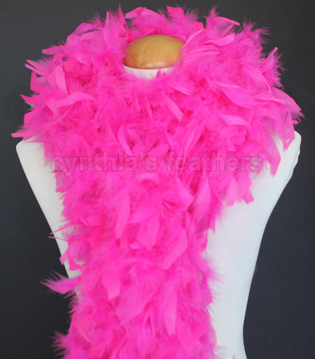 80 Grams Hot Pink Chandelle Feather Boa