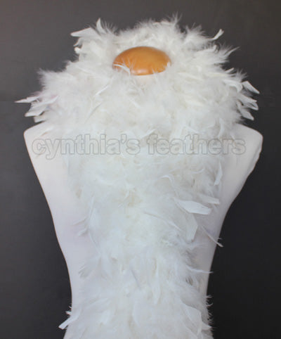 80 Grams Ivory Chandelle Feather Boa
