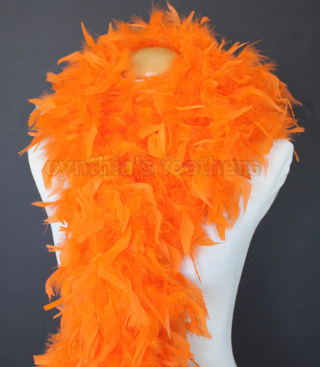 80 Grams Orange Chandelle Feather Boa